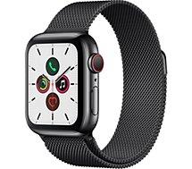 Montre connectée Apple Watch  44MM Acier Noir/Boucle Mil Series 5 Cell