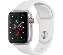 Montre connectée Apple Watch  40MM Alu Argent/Blanc Series 5 Cellular