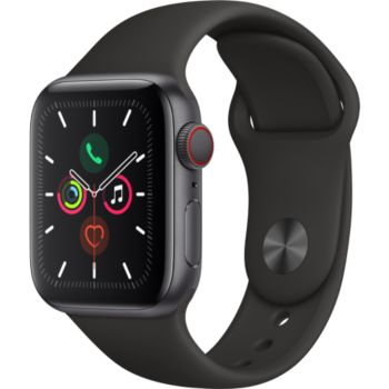 Apple Watch 40MM Alu Gris/Noir Series 5 Cellular