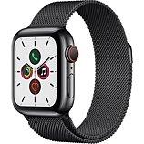 Montre connectée Apple Watch  40MM Acier/Boucle Noir Mila Series 5 Cel