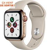Montre connectée Apple Watch 40MM Acier Or/Gris Sable Series 5 Cellul