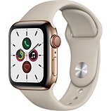 Montre connectée Apple Watch  40MM Acier Or/Gris Sable Series 5 Cellul
