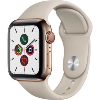 Apple Watch 40MM Acier Or/Gris Sable Series 5 Cellul