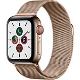 Montre connectée Apple Watch  40MM Acier Or/Boucle Or Mil Series 5 Cel