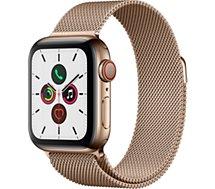 Montre connectée Apple Watch  40MM Acier Or/Boucle Or Mil Series 5 Cel