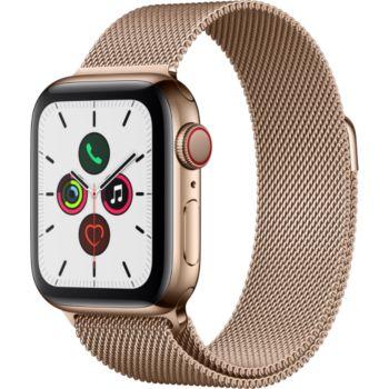 Apple Watch 40MM Acier Or/Boucle Or Mil Series 5 Cel