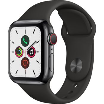 Apple Watch 40MM Acier Noir/Noir Series 5 Cellular