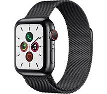 Montre connectée Apple Watch  40MM Acier Noir/Boucle No Mi Series 5 Ce