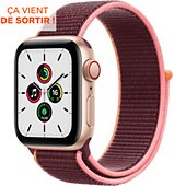Montre connectée Apple Watch SE 40MM Alu Or/Boucle Prune Cellular
