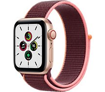 Montre connectée Apple Watch  SE 40MM Alu Or/Boucle Prune Cellular