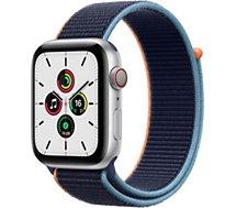 Montre connectée Apple Watch  SE 44MM Alu Argent/Boucle Bleu Cellular