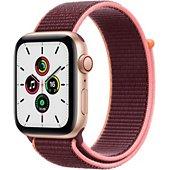 Montre connectée Apple Watch SE 44MM Alu Or/Boucle Prune Cellular
