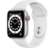 Apple Watch 40MM Alu Argent/Blanc Series 6 Cellular