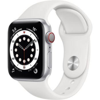 Apple Watch 40MM Alu Argent/Blanc Series 6 Cellular