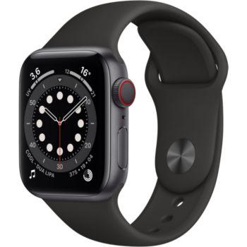 Apple Watch 40MM Alu Gris/Noir Series 6 Cellular