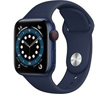 Montre connectée Apple Watch  40MM Alu Bleu/Bleu Series 6 Cellular