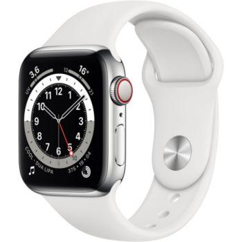 Apple Watch 40MM Acier Argent/Blanc Series 6 Cellula