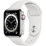Montre connectée Apple Watch  40MM Acier Argent/Blanc Series 6 Cellula