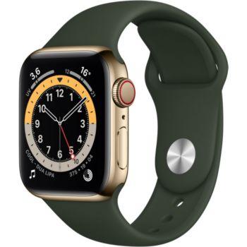 Apple Watch 40MM Acier Or/Vert Series 6 Cellular