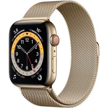 Apple Watch 40MM Acier Or/Boucle Or Mil Series 6 Cel
