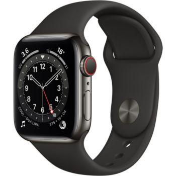 Apple Watch 40MM Acier Graph/Noir Series 6 Cellular