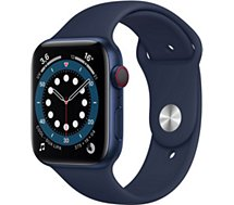 Montre connectée Apple Watch  44MM Alu Bleu/Bleu Series 6 Cellular