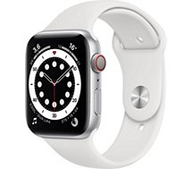 Montre connectée Apple Watch  44MM Acier Arg/Blanc Series 6 Cellular