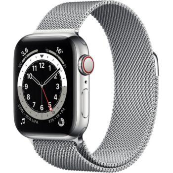 Apple Watch 44MM Acier/Boucle Arg Mil Series 6 Cel