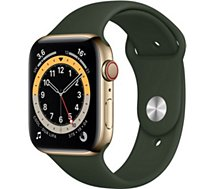 Montre connectée Apple Watch  44MM Acier Or/Vert Series 6 Cellular