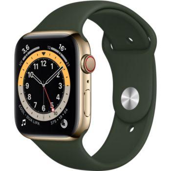 Apple Watch 44MM Acier Or/Vert Series 6 Cellular