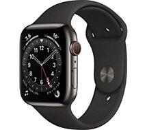 Montre connectée Apple Watch  44MM Acier Graph/Noir Series 6 Cellular