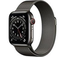 Montre connectée Apple Watch  44MM Acier Graph/Boucl Graph Series 6 Ce