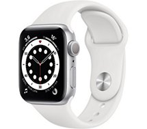 Montre connectée Apple Watch  40MM Alu Argent/Blanc Series 6