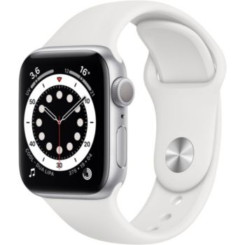 Apple Watch 40MM Alu Argent/Blanc Series 6