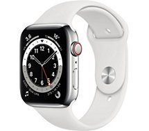 Montre connectée Apple Watch  44MM Alu Argent/Blanc Series 6 Cellular