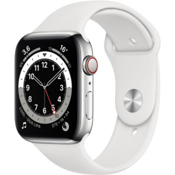 Apple Watch 44MM Alu Argent/Blanc Series 6 Cellular