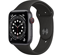 Montre connectée Apple Watch  44MM Alu Gris/Noir Series 6 Cellular