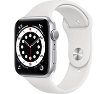 Montre connectée Apple Watch  44MM Alu Argent/Blanc Series 6