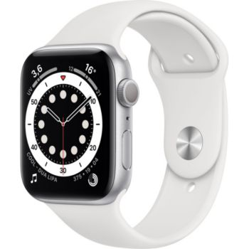 Apple Watch 44MM Alu Argent/Blanc Series 6