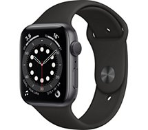 Montre connectée Apple Watch  44MM Alu Gris/Noir Series 6