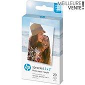 Papier photo instantané HP 20 feuilles ZINK pour Sprocket