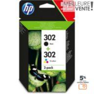 Cartouche d'encre HP 302 noire + 3couleurs