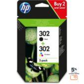 Cartouche d'encre HP N 302 Noire + 3couleurs