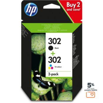 HP 302 noire + 3couleurs
