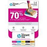 Carte prépayée HP  Instant Ink Abonnement cartouches