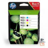 Cartouche d'encre HP N 903 XL Noire + 3couleurs