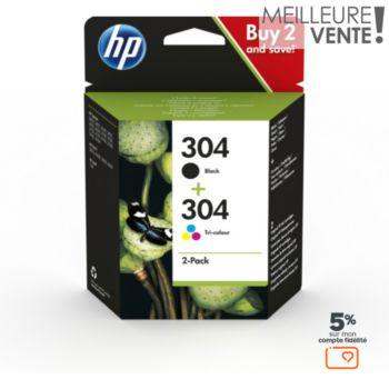 HP N 304 Noire + 3couleurs