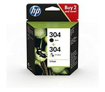 Cartouche d'encre HP  N 304 Noire + 3couleurs