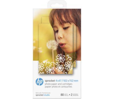 Papier photo instantané HP 2 cartouches + 80 feuilles pour Studio