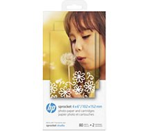 Papier photo HP  2 cartouches et 80 feuilles pour Studio